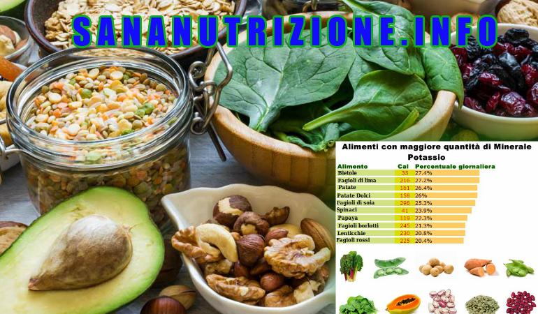 Potassio e il suo potere benefico per il corpo